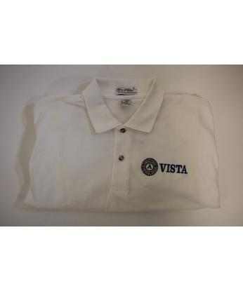 Polo-Shirt: VISTA Long Sleeve (4X) White