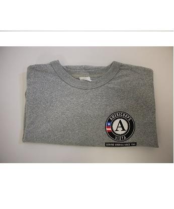 T-Shirt: VISTA Serving America Since 1965 Short Sleeve (3X) Grey