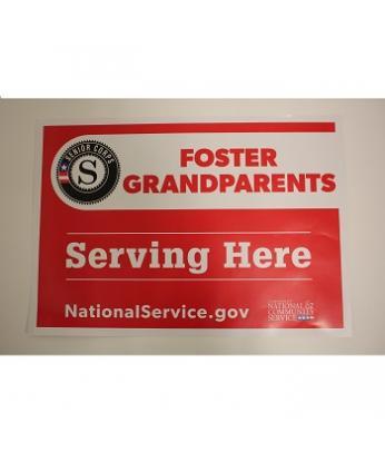 Foster Grandparents Site Sign