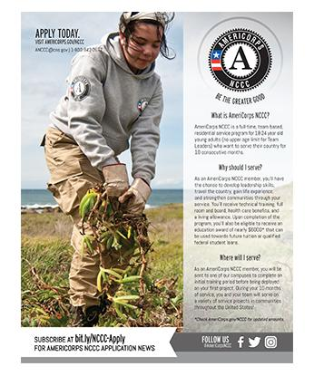 AmeriCorps NCCC Program Flyer