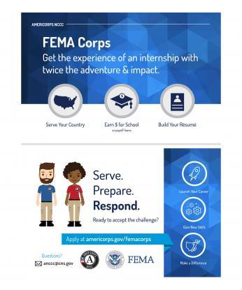 FEMA Corps Half-Page Postcard (Double Sided)