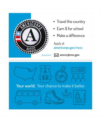 AmeriCorps NCCC Business Card (Double Sided)