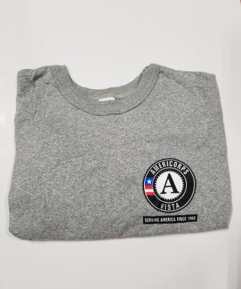 T-Shirt: VISTA Serving America Since 1965 Short Sleeve (4X) Grey
