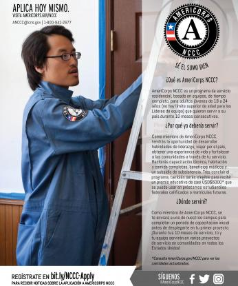 AmeriCorps NCCC Program Flyer - Spanish/español