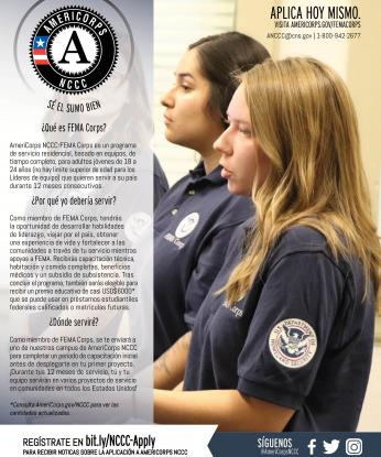 FEMA Corps Program Flyer - Spanish/español