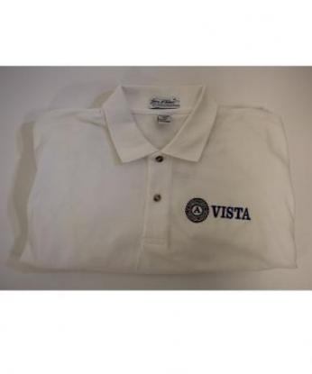 Polo-Shirt: VISTA Long Sleeve (3X) White