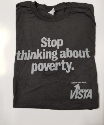 AmeriCorps VISTA Vintage T-Shirt: Stop Thinking About Poverty (S)