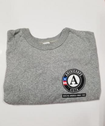 T-Shirt: VISTA Serving America Since 1965 Short Sleeve (2X) Grey