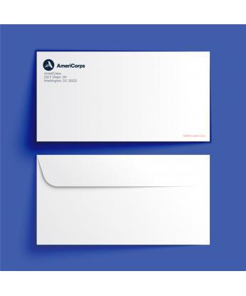 AmeriCorps Standard White Envelope (4-1/8 x 9-1/2)