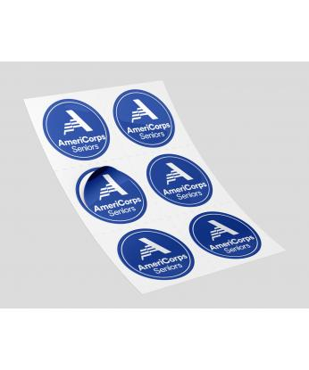 AmeriCorps Seniors Stickers (100 per roll) Size 3