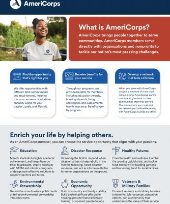 AmeriCorps Recruitment Flyer - Double sided