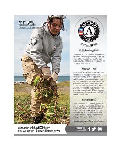 AmeriCorps NCCC Program Flyer