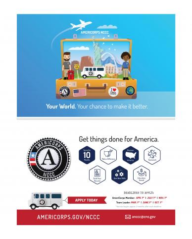 AmeriCorps NCCC Half-Page Postcard (Double Sided)