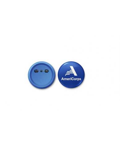 """AmeriCorps Round Button (Size 2-1/4"""")"""