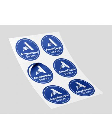 AmeriCorps Seniors Stickers (100 per roll) Size 3""