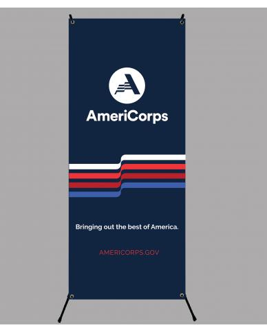AmeriCorps Tri-X Banner Display